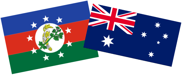 Chin State and Australian Flags